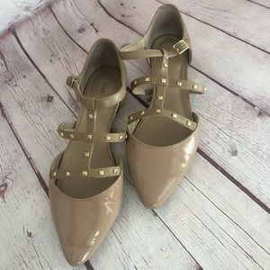 """[Sole Society] Nude studded T-Strap flats """"Susie"""""""